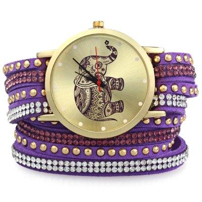 GENEVA A2563 dámské Bracelet Quartz hodinky, fialová