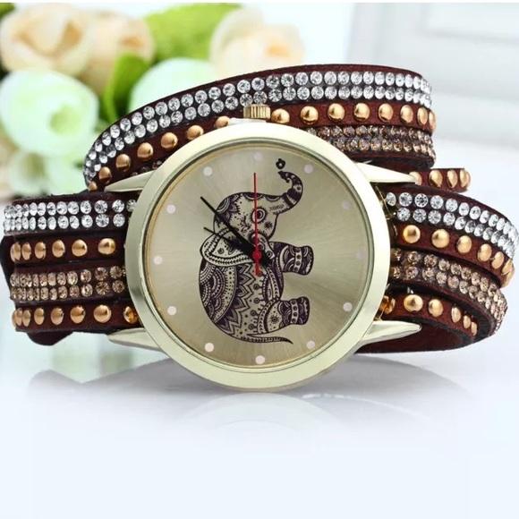 GENEVA A2563 dámské Bracelet Quartz hodinky, hnědá