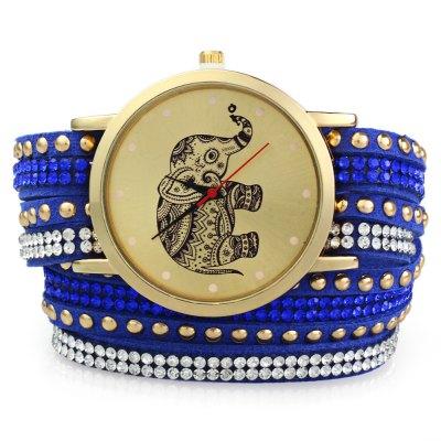 GENEVA A2563 dámské Bracelet Quartz hodinky, modrá