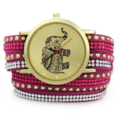 GENEVA A2563 dámské Bracelet Quartz hodinky, ROSE MADDER