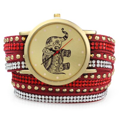 GENEVA A2563 dámské Bracelet Quartz hodinky, rudá