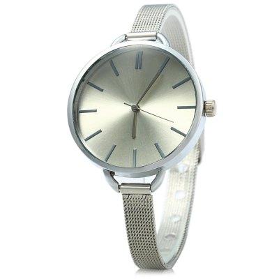 MILER A8286 dámské značkové Quartz hodinky, stříbrná - bílá