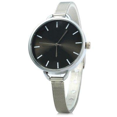 MILER A8286 dámské značkové Quartz hodinky, stříbrná - černá