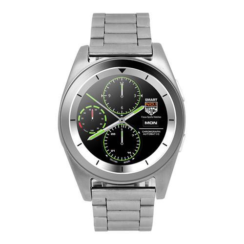 NO.1 - G6 Bluetooth 4.0 Inteligentní hodinky, ocelové, stříbrná