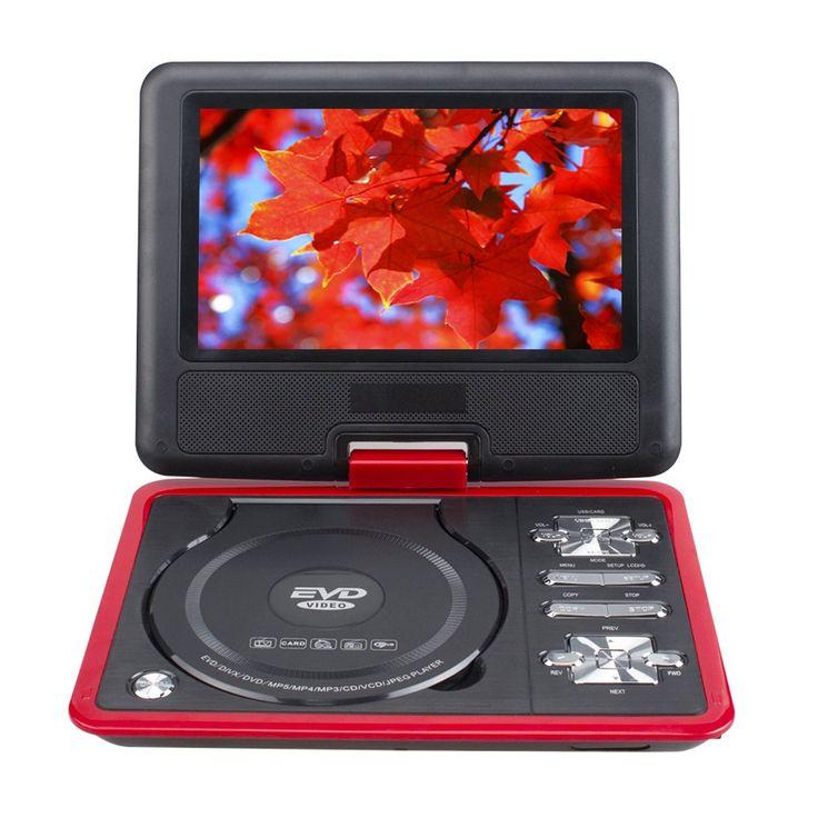 """RMVB RMVB NS-1129 přenosný 10"""" DVD přehrávač s otočnou obrazovkou, TV, hry, červená"""