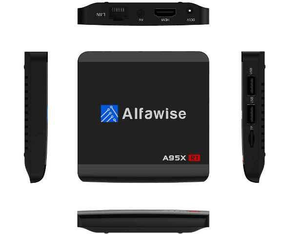 Alfawise Alfawise A95X R1 TV Box, Android 6.0, barva černá