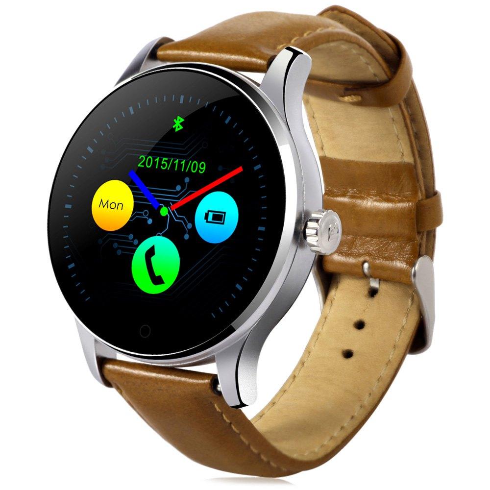 Vitmood Smart Watch K88H kůže hnědá-stříbrná