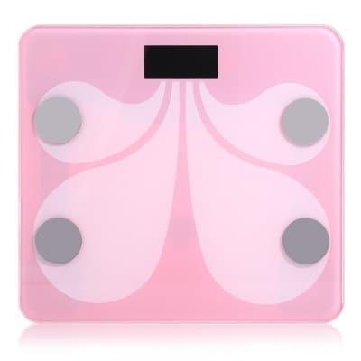 SHINING SHINING SY900, Bluetooth 4.1, Smart BMI osobní váha, měření tělesného tuku, svalstva, atd., pink