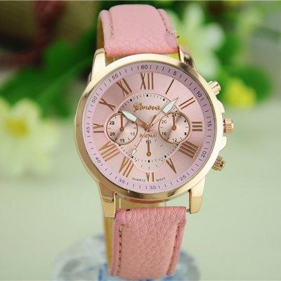 Ocelové Quartz hodinky Geneva pink