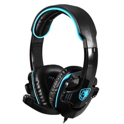 SADES SA - 708 Stereo Gaming sluchátka 3,5 modro - černá