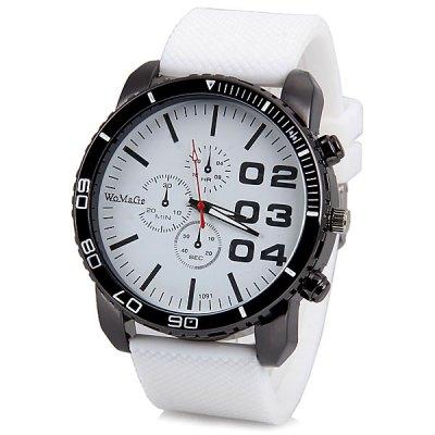 Womage Cool pánské hodinky Quartz bílá