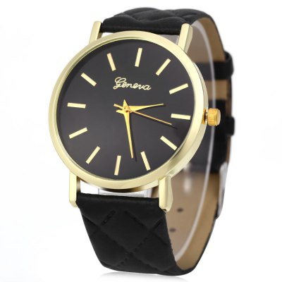 Geneva Quartz hodinky vodotěsné černé