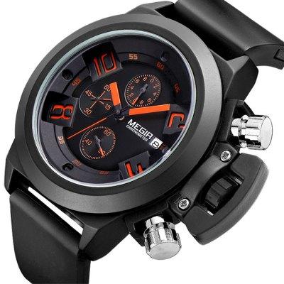 MEGIR 2002x pánské Quartz hodinky černé