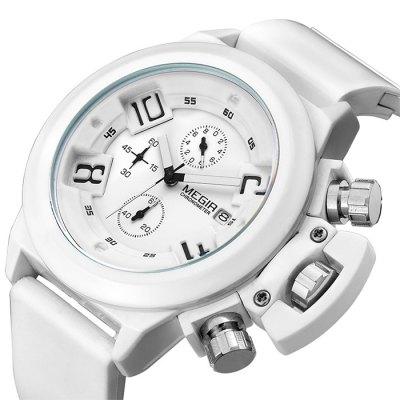 MEGIR 2002 pánské Quartz hodinky bílé