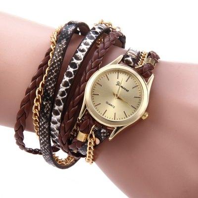 Geneva Quartz hodinky dámské hnědá