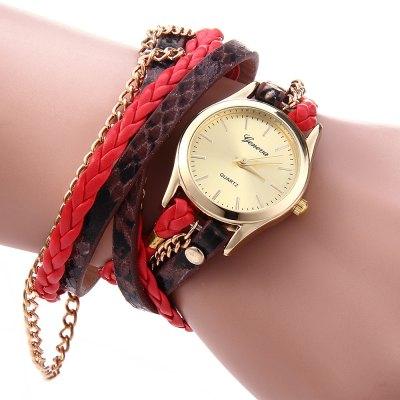 Geneva Quartz hodinky dámské červená