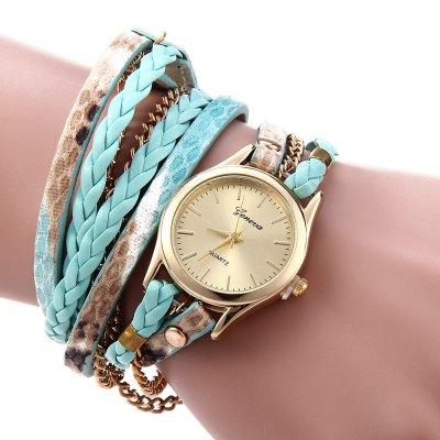 Geneva Quartz hodinky dámské zelená