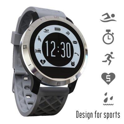 Memaws - Ann Bully F69 vodotěsné smart hodinky šedá