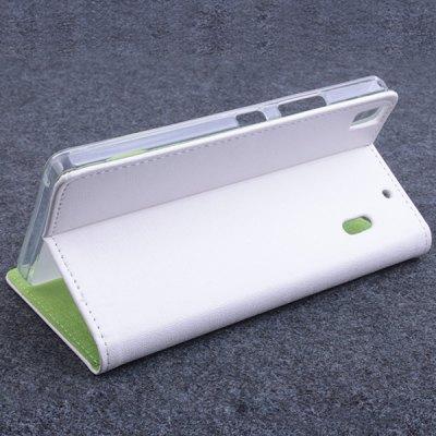 Lenovo Luxusní flipové kožené pouzdro pro Lenovo K3 bílá