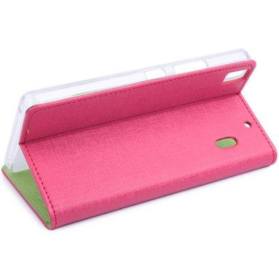 Lenovo Luxusní flipové kožené pouzdro pro Lenovo K3 pink