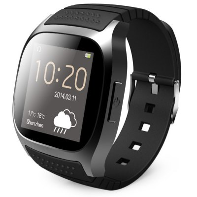RWATCH RWATCH M26 LED chytré hodinky Bluetooth černé