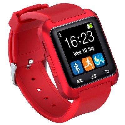 uWATCH U80 Inteligentní hodinky s Bluetooth částečně v češtině červená