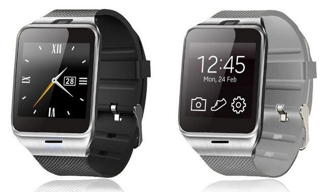 CYUC GV18L SIM Inteligentní Watch Phone zlato-hnědá