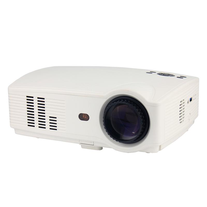 Byintek BYINTEK BT300, LED mini přenosný projektor, 1200 lumelů, HDMI USB Video pICo, LCD 1080P 3D hd, bílá