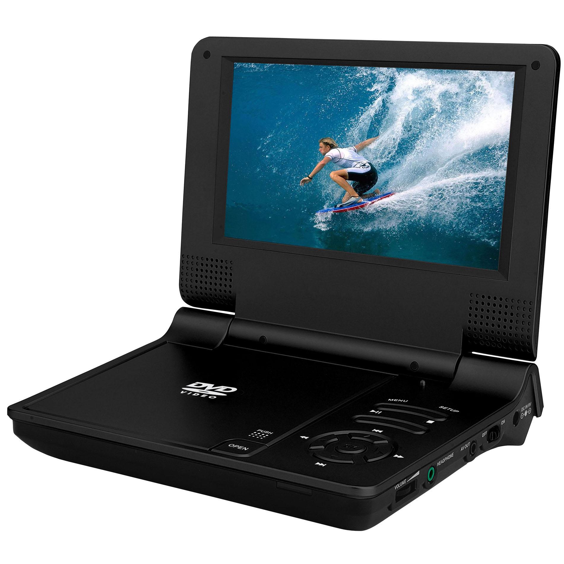 Generic Generic NS-758, TV, 7,8 palcový TFT LCD displej Digitální multimediální přenosné DVD s čtečkou karet a USB port, HRY, černá