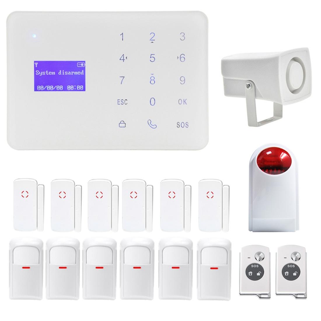 Electro GuardWatch YA-700-GSM-8 s dotykovou klávesnicí, Bezpečnostní systém, bílá