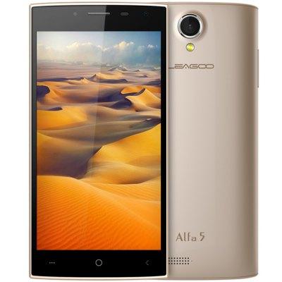 LEAGOO Alfa 5 3G smart telefon - zlatá