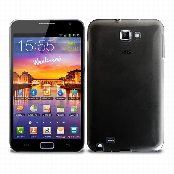 PURO Puro zadní kryt Plasma pro Samsung Galaxy Note, černá