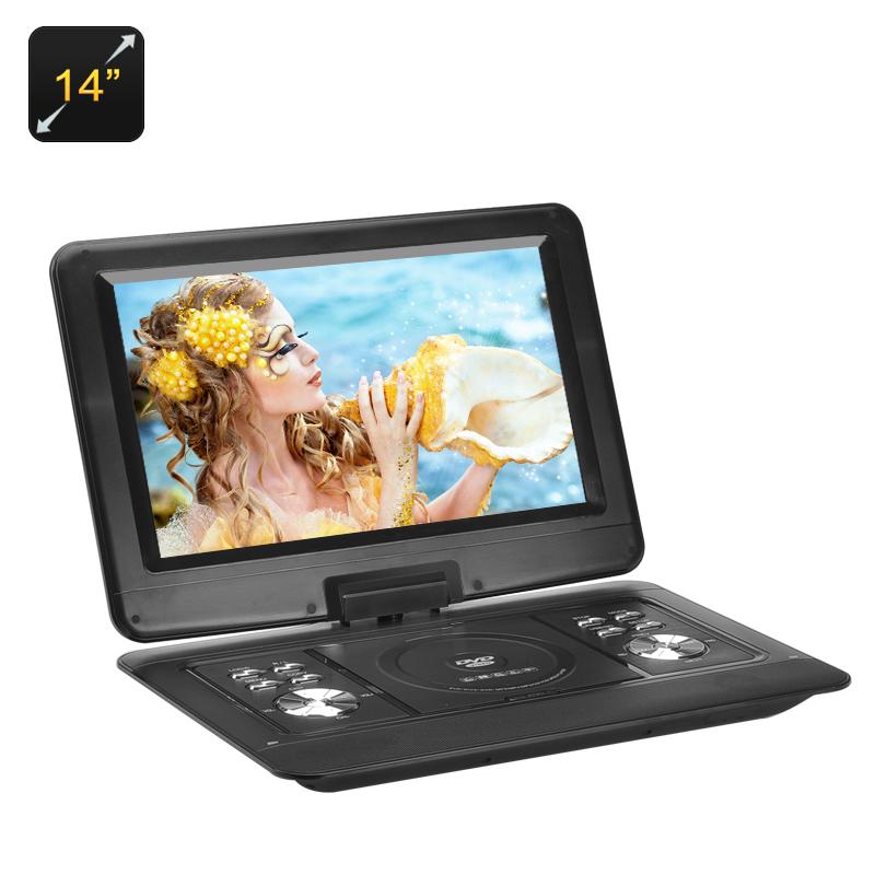 """RMVB RMVB NS-1580 14"""" DVD přehrávač s otočnou obrazovkou černý"""