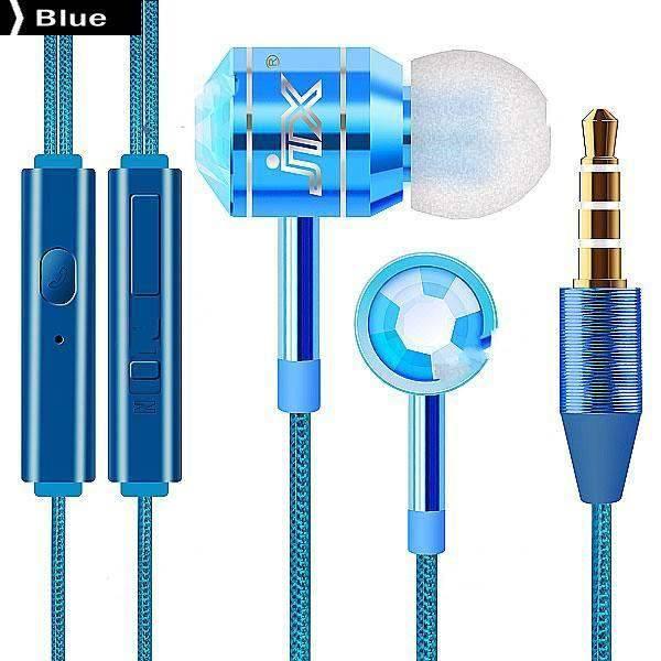 JTX JTX-555 3,5 mm do uší Stereo hands-free sluchátka Sluchátka w / MIC modrá