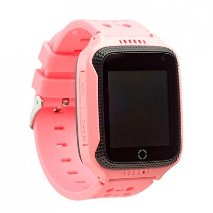 T7 T7 GPS dětské chytré hodinky s kamerou a LED růžové