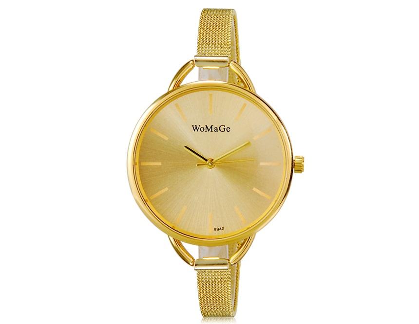 WoMaGe 9940 Dámské hodinky zlaté